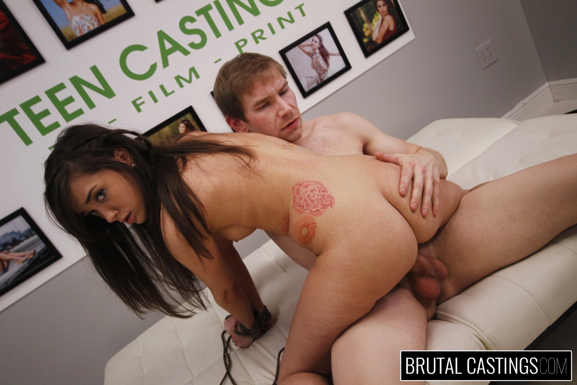 Casting couch with gia paige. Gia Paige, a hardworking young hottie, desperately wants to quit her job for high fashion modeling with Teen Castings! She'll do anything to get what she wants. She'll even endure , domination, rope bondage, deepthroat bj, fingering, squirting, spanking, slapping and deep penetration rough sex.