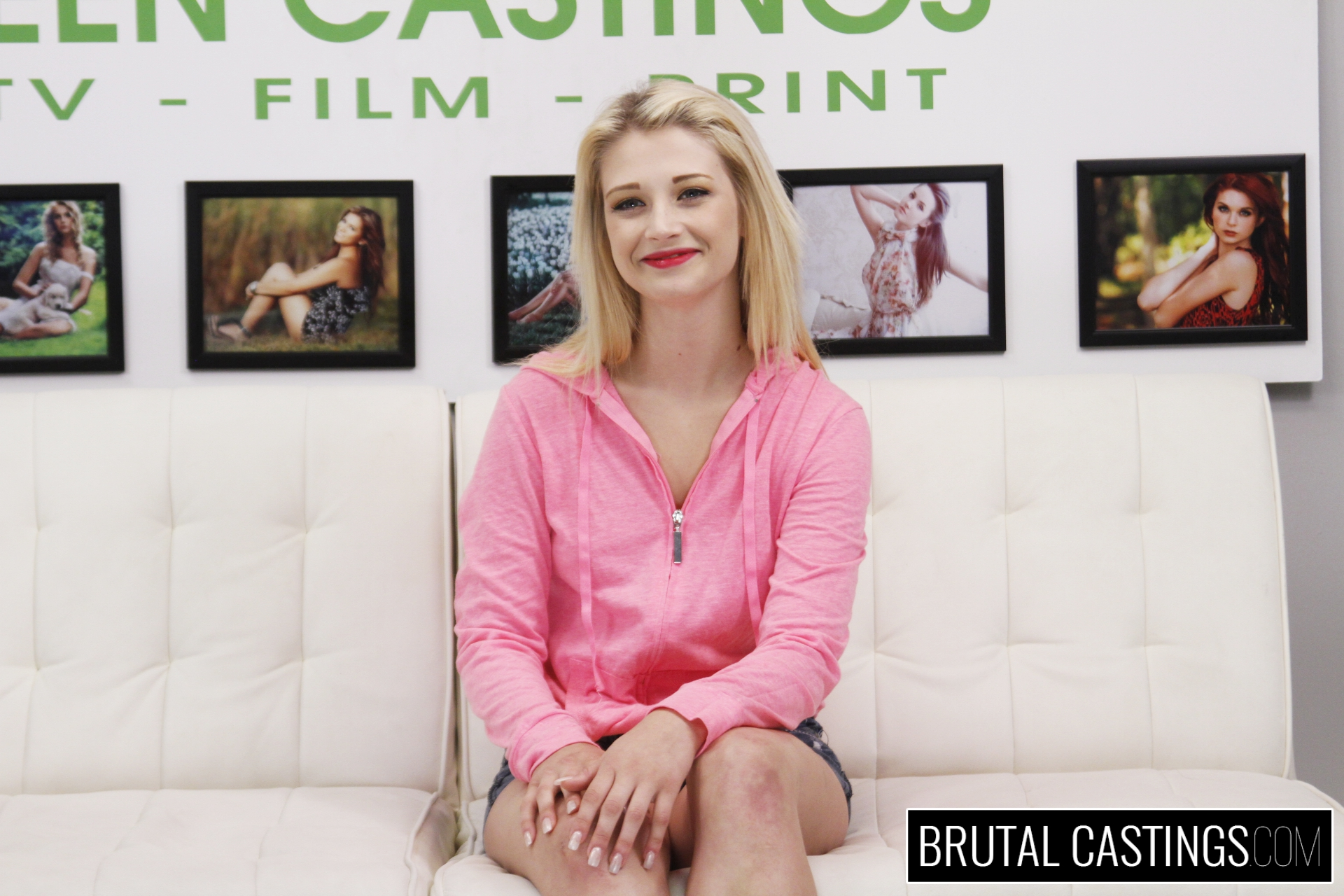 Bdsm casting couch with aubrey gold. Aubrey Gold, a elegant Southern blonde, is ready to leave her small town behind for a modeling career in a big city! She sent her audition video to Teen Castings, a big agency in Miami, and gets a call back. She'll do anything to get what she wants. She'll even endure BDSM, domination, rope bondage, deepthroat bj, fingering, squirting, spanking, slapping and rough sex.