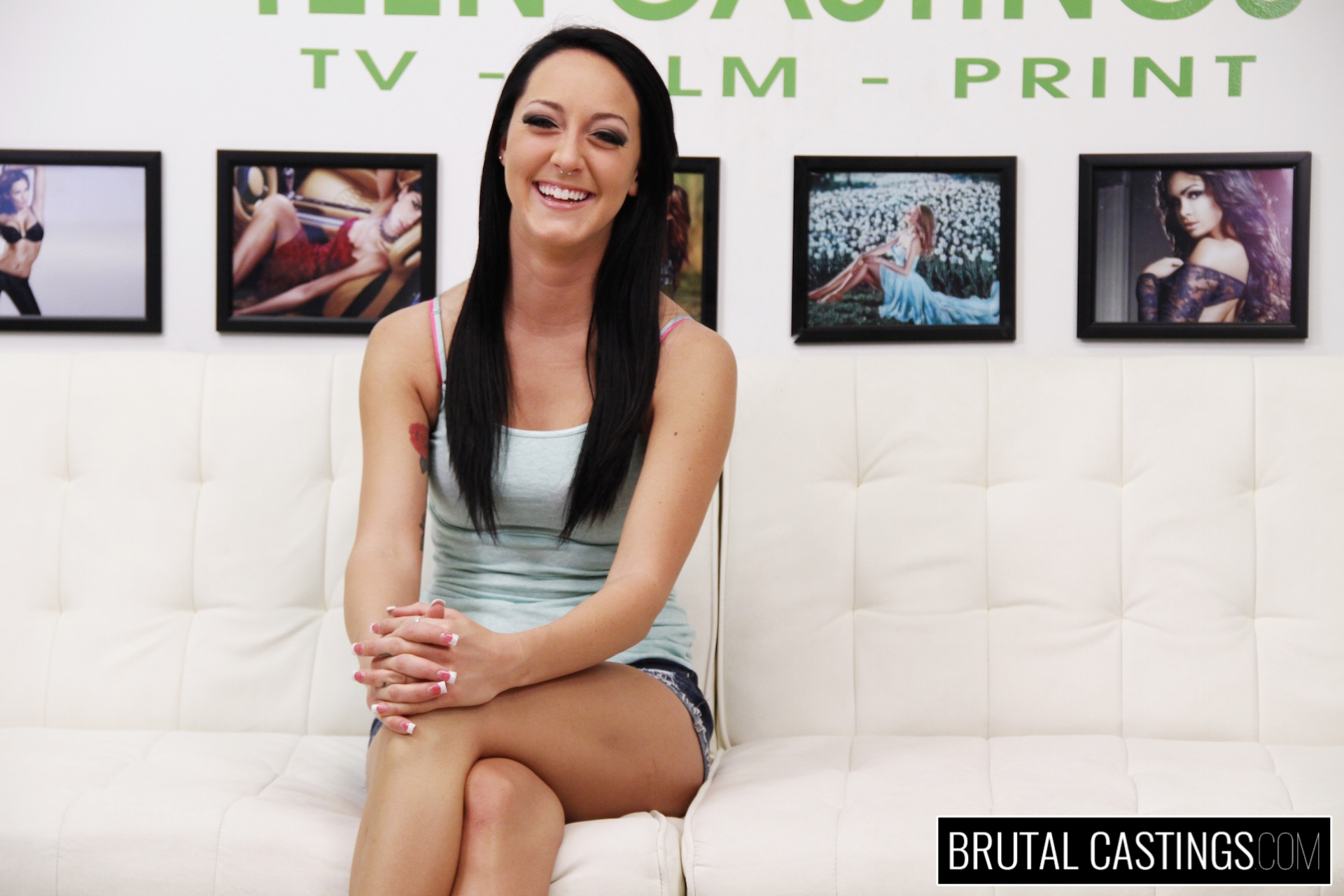 Bdsm casting couch with sabrina banks. Sabrina Banks, a horny girl meant for the camera, is ready to become the supermodel of the world! She sent her audition video to the best talent agency, Teen Castings, and gets a call back. She'll do anything to get what she wants. She'll endure his love for BDSM, domination, rope bondage, deepthroat bj, fingering, squirting, spanking, slapping and rough sex.